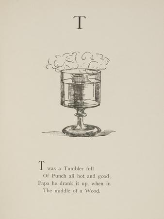 Tumbler Illustrations and Verse From Nonsense Alphabets by Edward Lear.