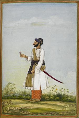 Portrait Of Maharav Raja Bakhtavar Singh Of Alwar (R.1790-1815)