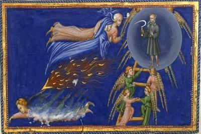 Dante and Beatrice Ascending To the Heaven Of Saturn