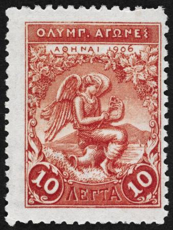 Victory. Greece 1906 Olympic Games 10 Lepta, Unused