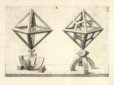 Illustration Of Sculpture. Geometric Designs Illustrating Euclidian Principles Of Geometry.