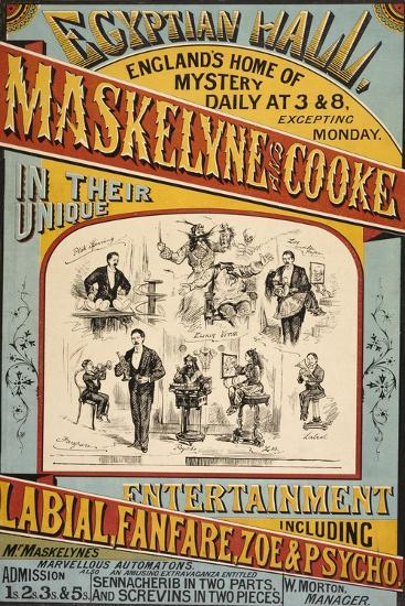 Maskelyne and Cooke's Entertainment at the Egyptian Hall in 1879  England's  Home Of Mystery
