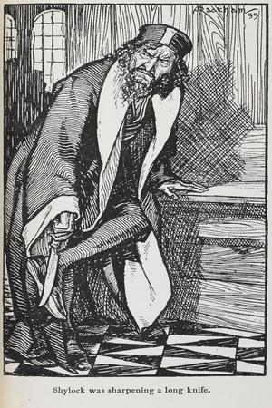 Illustration Of Shylock From the Merchant Of Venice