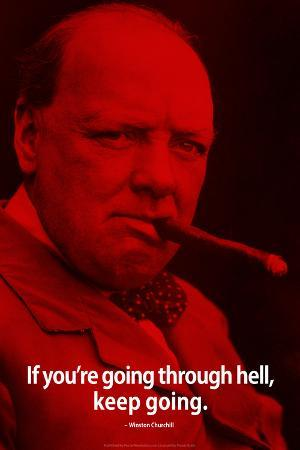 Winston Churchill Keep Going iNspire Quote Poster