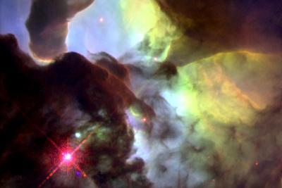 Giant Twisters in the Lagoon Nebula Space