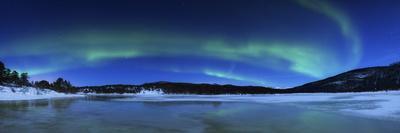 Aurora Borealis, Tennevik Lake, Troms, Norway.