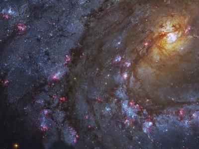Close-up of the Southern Pinwheel Galaxy