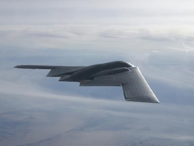 A B-2 Spirit Soars Through the Sky