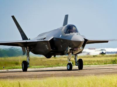 An F-35 Lightning II Taxiing at Eglin Air Force Base, Florida