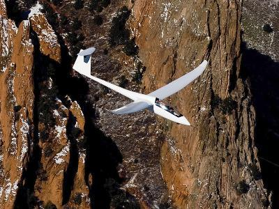 A TG-15A Glider Above Colorado Springs, Colorado
