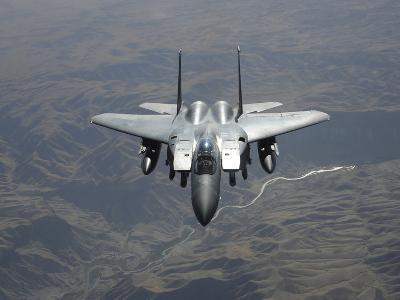 An F-15E Strike Eagle Flies Watch Over the Skies of Afghanistan