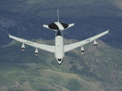 A U.S. Air Force E-3 Sentry Airborne Warning And Control System Aircraft