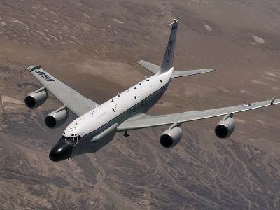A U.S. Air Force RC-135 Rivet Joint Reconnaissance Aircraft
