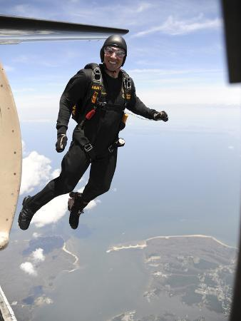 Member of the U.S. Army Golden Knights Parachute Team