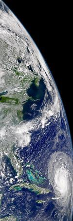 View of Hurricane Frances On a Partial View of Earth