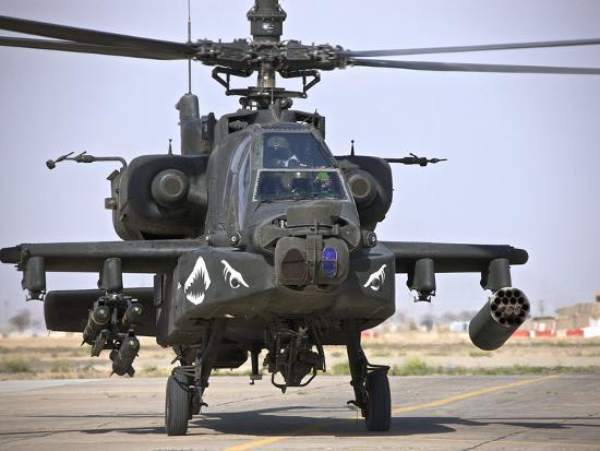 An Ah 64 Apache Helicopter Photographic Print By Stocktrek