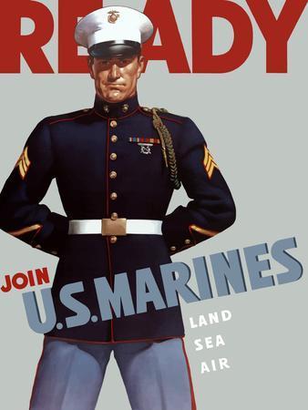 Marine Corps Recruiting Poster from World War II