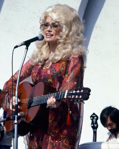 CANVAS Dolly Parton Performing Art print POSTER