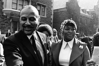 Betty Shabazz and Percy Sutton, 1972