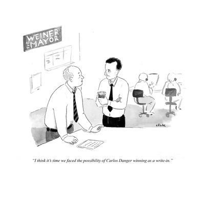 """""""I think its time we faced the possibility of Carlos Danger winning as a w…"""" - Cartoon"""