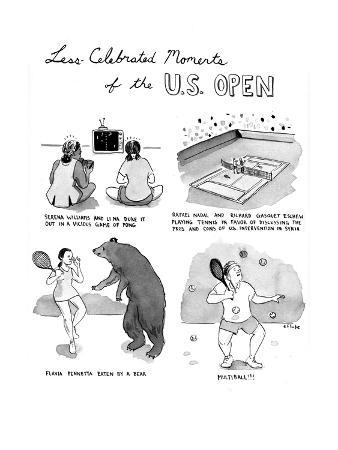 Less Celebrated Moments of the U.S. Open - Cartoon