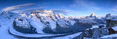 Matterhorn, Monte Rosa Range and Gornergletscher, Zermatt, Valais, Switzerland