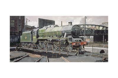 Jubilee Turnaround, Hawke 45652 Jubilee Class Locomotive on Camden Turntable, London