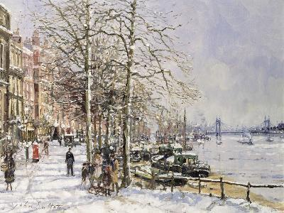 Chelsea: Cheyne Walk under Snow