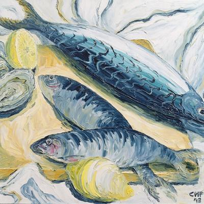 Mackerel with Oysters and Lemons, 1993