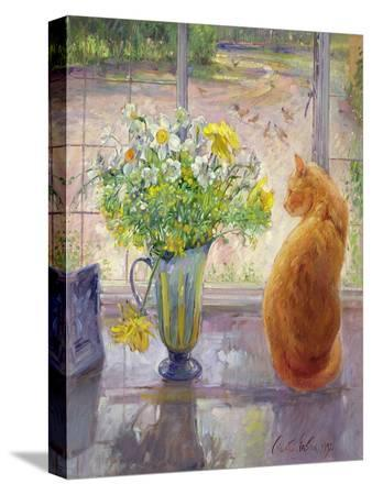 Striped Jug with Spring Flowers, 1992