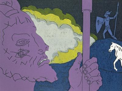 Wotan Instructs Brunnhilde His Favourite Daughter to Secure Victory: Illustration for 'Die Walkure'