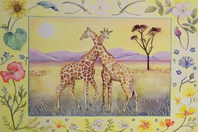 Giraffe (Month of July from a Calendar)