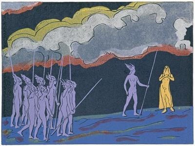 Brunnhilde Foretells Child Shall Be Great Hero Siegfried: Illustration for 'Die Walkure'