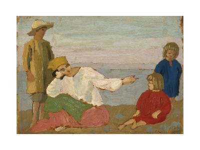 Dorelia and the Children at Martigues, 1910