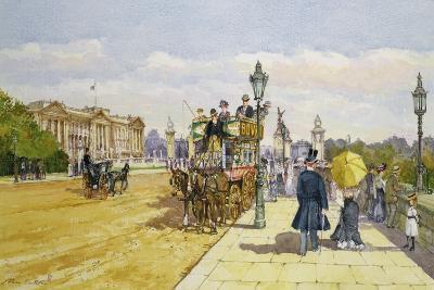 Promenaders Near Buckingham Palace, C.1889