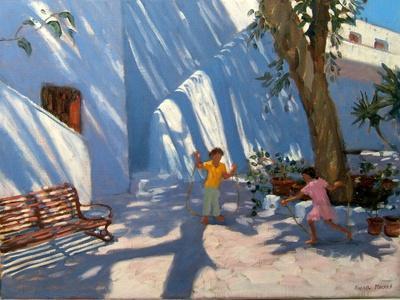 Two Girls Skipping, Mykonos