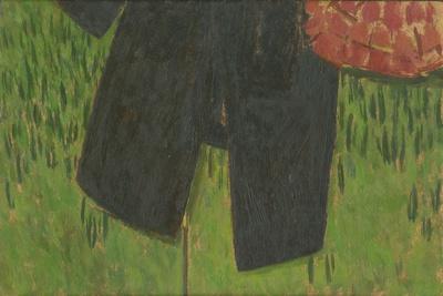 Manteau Noir Et Sac Sur Paravent, 2004