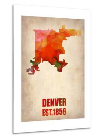 Denver Watercolor Map