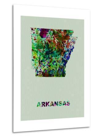 Arkansas Color Splatter Map