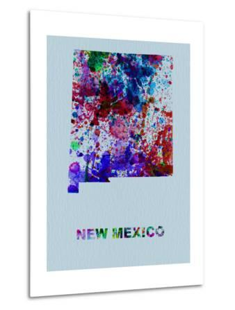 New Mexico Color Splatter Map