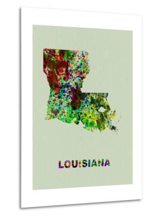 Louisiana Color Splatter Map