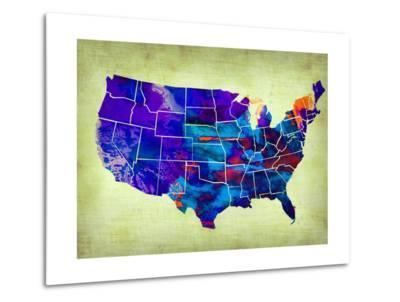 Usa Watercolor Map 5