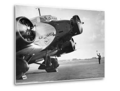 Start of a Junkers Ju 52 on the Berlin Tempelhof Airport, 1937