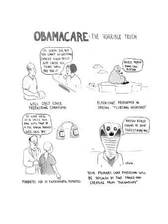Obamacare: The Horrible Truth - Cartoon