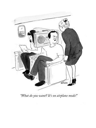 """""""What do you want? It's on airplane mode!"""" - Cartoon"""