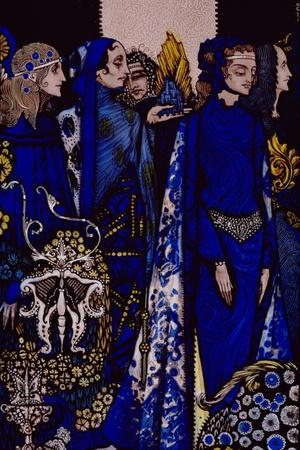 """""""Etain, Helen, Maeve and Fand, Golden Deirdre's Tender Hand"""" Illustration by Harry Clarke from…"""