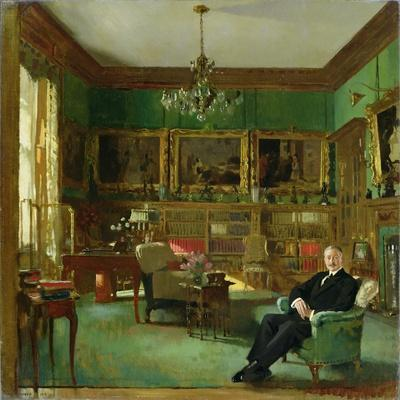 Otto Beit in His Study at Belgrave Square, 1913