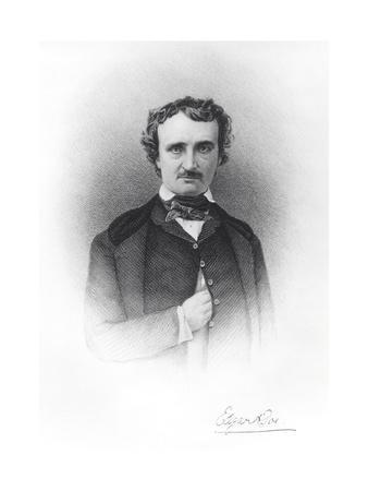 Portrait of Edgar Allan Poe (1809-49)
