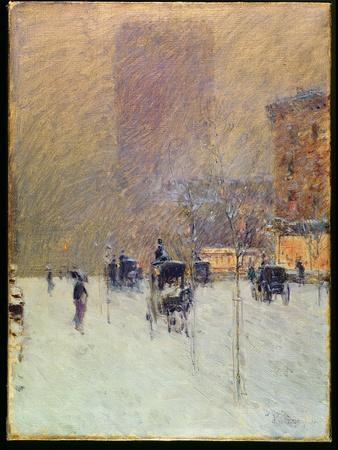 Winter Afternoon in New York, 1900