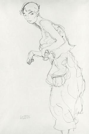 Woman with Bloomers Looking to the Left, c.1916-17